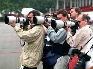 Reporteros teleobjetivos